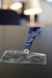 Satin-Lanyard mit Kartenhülle